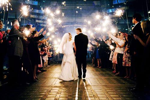 Vuurwerk bruiloft